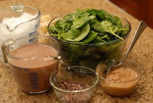 Chocolate Almond Butter Green Smoothie