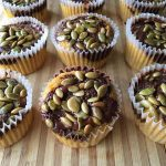 paleo pumpkin chocolate muffins